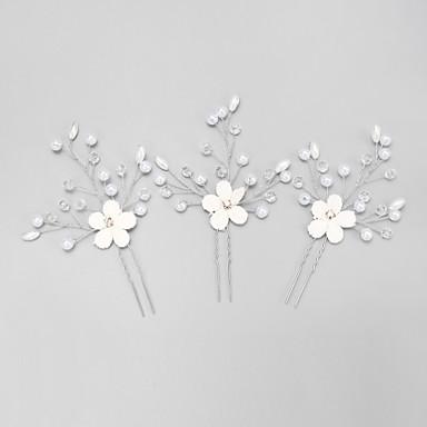 imiteret perle rhinestone legering hår pin hovedstykke elegant stil
