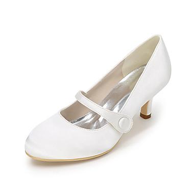 Dame-Silke-StiletthælHøye hæler-Bryllup Fest/aften-Svart Blå Lilla Rød Elfenbenshvit Hvit Sølv Sjampagne