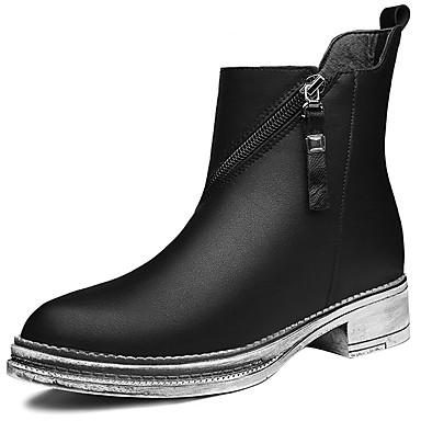 Støvler-Syntetisk-Cowboystøvler-Dame-Sort Brun-Fritid Sport-Tyk hæl