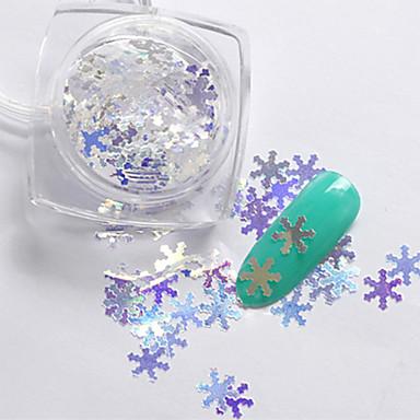 1Pc Jóias de unha Paetês Glitters Clássico Alta qualidade Diário