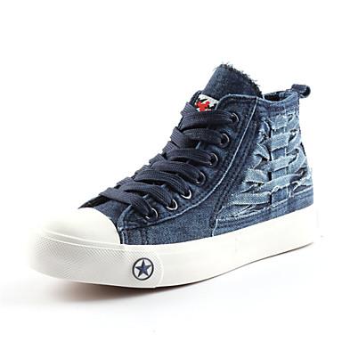 Støvler-DenimDame-Blå-Udendørs Fritid-Flad hæl