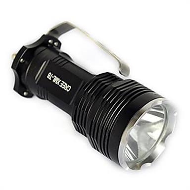 Luzes de Bicicleta Lanternas de Mão LED 1750 lm 1 Modo Cree XM-L T6 Com Carregador Impermeável Adequado Para Veículos Campismo / Escursão