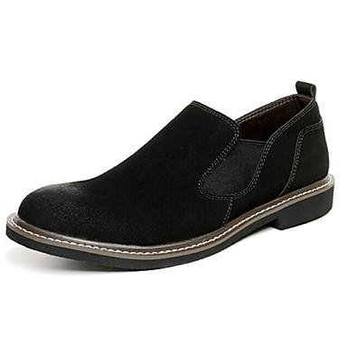 Heren Schoenen Kunstleer Zomer Comfortabel Loafers & Slip-Ons voor Zwart Grijs Rood