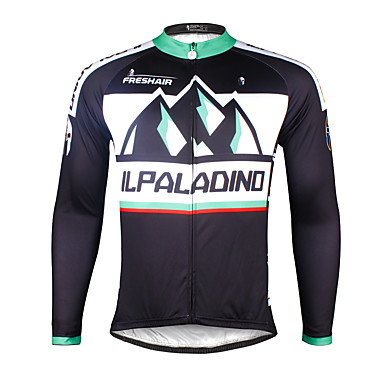 ILPALADINO Herrn Langarm Fahrradtrikot Fahhrad Trikot / Radtrikot, Rasche Trocknung, UV-resistant, Atmungsaktiv