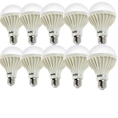 YouOKLight 10pcs 2W 140-180lm E26 / E27 LED-pallolamput A60(A19) 9 LED-helmet SMD 5630 Koristeltu Lämmin valkoinen Kylmä valkoinen
