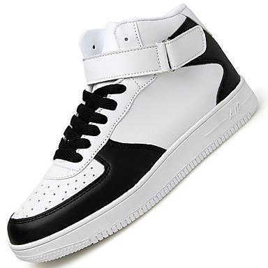 Heren Schoenen Synthetisch Lente Zomer Herfst Winter Comfortabel Sneakers Veters Voor Sportief Causaal Wit Zwart zwart/wit