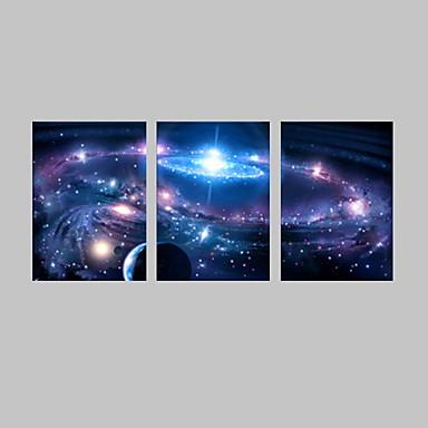 LED canvas-taide Maisema Fantasy Moderni Perinteinen,3 paneeli Pystysuora Tulosta Art Wall Decor For Kodinsisustus