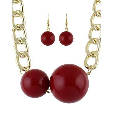 Damen Schmuckset Halskette / Ohrringe Acryl Modisch Hochzeit Party Alltag Normal Ohrringe Halsketten Modeschmuck