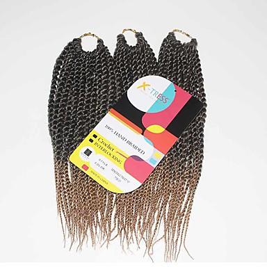 Twist Vlechten Senegal Kanekalon Zwart / Strawberry Blonde Haarextensions 12