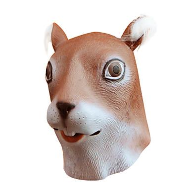 Halloween-masker Maskerademasker Dyremaske Legetøj Fest Egern Gysertema 1 Stk. Halloween Maskerade Gave