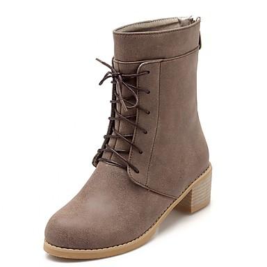 Støvler-Syntetisk laklæder Kunstlæder-Plateau Combat-støvler Originale Cowboystøvler Snowboots Ankelstøvler Gladiator Modestøvler