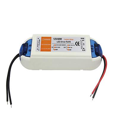 AC 90-240V 0.62a naar dc 12v 4a 48w geleid elektrisch verstelbare bestuurdersstoel - wit oranje