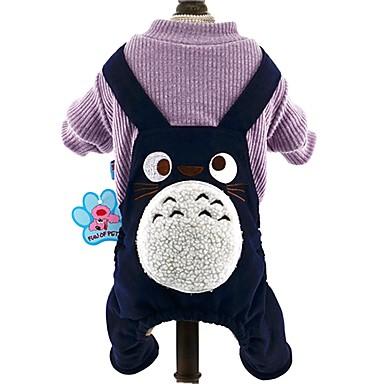 Katze / Hund Overall Hundekleidung Cartoon Design Dunkelblau / Braun / Wein Baumwolle Kostüm Für Haustiere Herrn / Damen Modisch