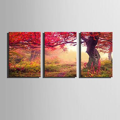 Canvas Set Landschap Europese Stijl,Drie panelen Canvas Verticaal Print Art wall Decor For Huisdecoratie