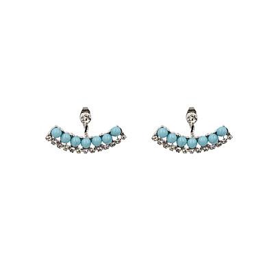 Dames Druppel oorbellen Voor achter gestileerde oorbellen Modieus Vintage Bohemia Style Rock Luxe Sieraden Hars Strass Gesimuleerde