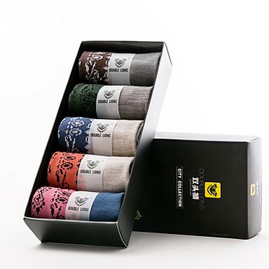 DOUBLE LIONS Men's Cotton Socks 5/box-MM0515