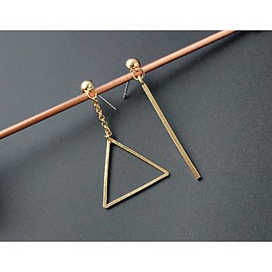 Oorknopjes PERSGepersonaliseerd Modieus Acryl Legering Geometrische vorm Driehoekige vorm Goud Zilver Sieraden Voor Bruiloft Feest 1 paar