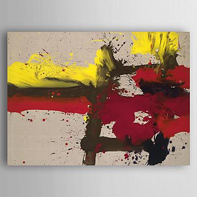 Pintados à mão Abstracto Pinturas a óleo,Modern 1 Painel Tela Hang-painted pintura a óleo For Decoração para casa
