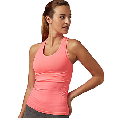 Damen Ringer-Rücken-Kleid Funktions-Unterhemden - Blau, Rosa, Grau Sport Sexy, Modisch Elasthan Weste / Fahrradweste / Tank Tops /