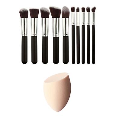 10 Brush Sets Synthetisch haar Beugel / Milieuvriendelijk / Draagbaar / Professioneel Hout Gezicht / Oog Overige
