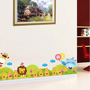 Floral Árvores/Folhas Art Deco Decoração para casa Moderna Revestimento de paredes , PVC/Vinil Material adesivo necessário Fronteira ,