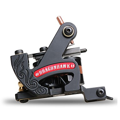 Tatoeage Machine Met Spoelen Gietijzer Lijnen Dubbele spoel, 8 omwikkelingen 6-8 4700