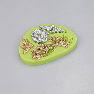 forma de fechadura forma molde de silicone fundente bolo ferramentas de decoração chocolate candy moldcolor aleatório
