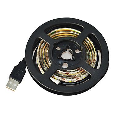 1m Flexibele LED-verlichtingsstrips 60 LEDs 3528 SMD Wit Knipbaar / Waterbestendig / Geschikt voor voertuigen 5 V / IP65 / Zelfklevend