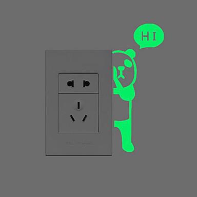 Dieren Muurstickers Lichtgevende Muurstickers Lichtknop Stickers Huisdecoratie Muursticker Switch