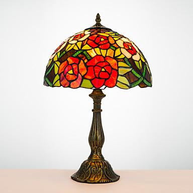 Tiffany Traditionell-Klassisch Bogen Schreibtischlampe Für Harz 110-120V 220-240V