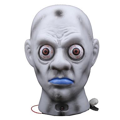 1pc dia das bruxas fantasma assustador cabeça da lâmpada decoração bar adereços luminosa fantasma horror casa assombrada vestir-se