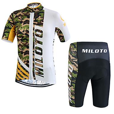 Miloto Fahrradtriktot mit Fahrradhosen Herrn Kurzarm Fahhrad Shorts/Laufshorts Sweatshirt Trikot/Radtrikot Kleidungs-Sets