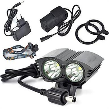 Luzes de Bicicleta luzes do fulgor da bicicleta luzes de segurança LED Cree XM-L T6 Ciclismo Super Leve 18650.0 Bateria de Lítium 6000