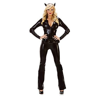 Cosplay Kostumer / Festkostume Engel & Djævel Festival/Højtider Halloween Kostumer Sort Ensfarvet Trikot/Heldragtskostumer / Mere Tilbehør