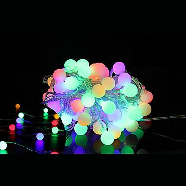 5m Koristevalot 40 LEDit Dip Led Lämmin valkoinen Kauko-ohjain / Himmennettävissä / Yhdistettävä 5 V / Vaihtuva väri / IP44