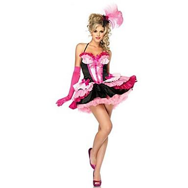 Rainha Conto de Fadas Fantasias de Cosplay Festa a Fantasia Festival/Celebração Trajes da Noite das Bruxas Rosa Patchwork Vestido Mais