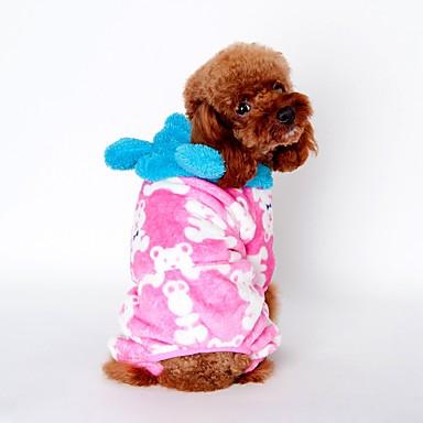 Kat Hond Hoodies Pyjama Hondenkleding Schattig Casual/Dagelijks Cartoon Zwart Koffie Roze Kostuum Voor huisdieren