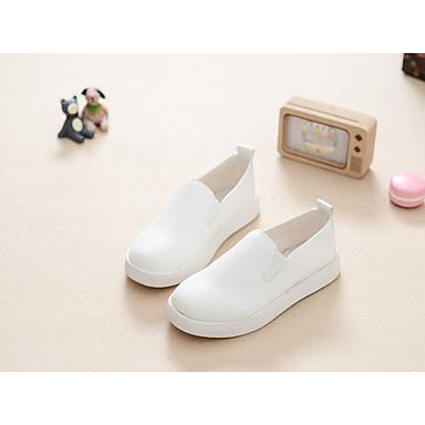 Para Meninas sapatos Courino Primavera Verão Outono Mocassins e Slip-Ons para Casual Branco Preto Vermelho Rosa claro