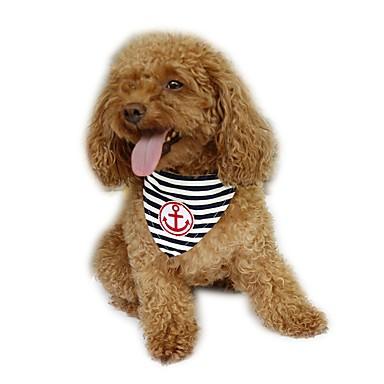 Hund Bandanaer og hatte Hundetøj Sømand Rød Blå Bomuld Kostume For kæledyr Herre Dame Ferie Mode