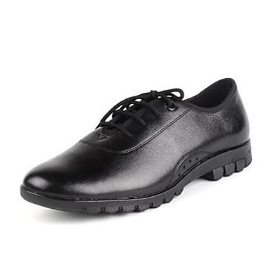 Heren Moderne dansschoenen / Danslaarzen Leer Oxford / Sneaker Lage hak Niet aanpasbaar Dansschoenen Zwart / Oefenen