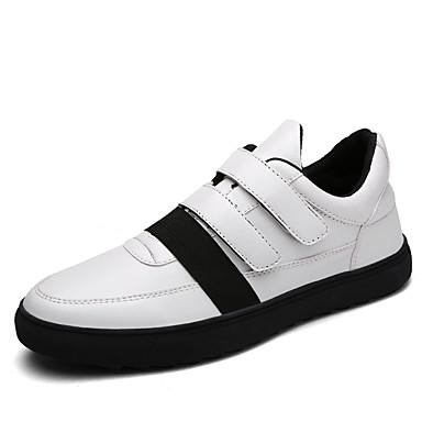 Sneakers-Mikrofiber-Komfort-Herre-Sort Blå-Udendørs Fritid Sport-Flad hæl