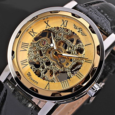 WINNER® Men's Watch Mechanical Hollow Engraving Cool Watch Unique Watch Skeleton Watch Fashion Watch