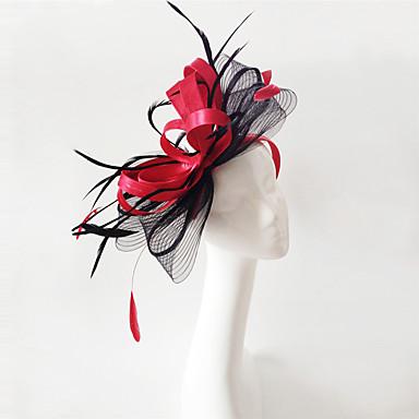 Flachs / Feder Fascinatoren / Kopfbedeckung mit Blumig 1pc Hochzeit / Besondere Anlässe Kopfschmuck