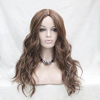 Syntetisk Lace Front Parykker Bølget Brun Dame Blonde Front Carnival Paryk Halloween Paryk Blonde Paryk Syntetisk hår