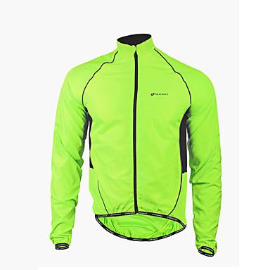 Nuckily Men's Cycling Jacket Bike Jacket / Windbreaker / Raincoat Waterproof, Quick Dry, Windproof Patchwork Polyester Green Bike Wear   #00427550          –