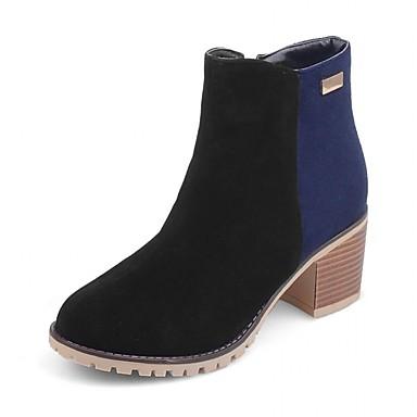 Feminino Botas Coturnos Curta/Ankle Botas de Moto Botas da Moda Botas de Montaria Botas de Neve Inovador Botas Cowboy/CountryCouro