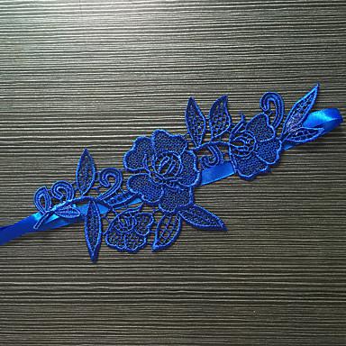 Spitze Stretch - Satin Klassisch Modisch Hochzeitsstrumpfband  -  Blume Strumpfbänder