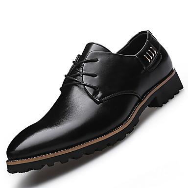 Masculino sapatos Couro Primavera Verão Outono Inverno Conforto Oxfords Cadarço Para Casual Festas & Noite Preto Marron