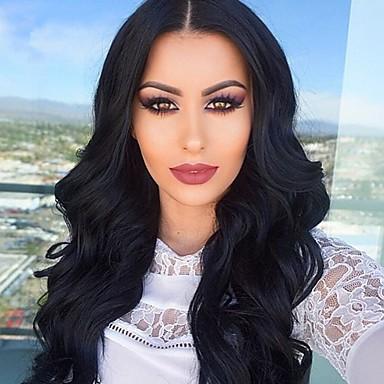 7a természetes hullám paróka selyem bázis teljes csipke emberi haj parókák brazil szűz emberi haj paróka fekete nők számára