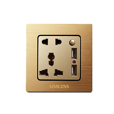 # Sem Fio Others Smart usb socket Dourada